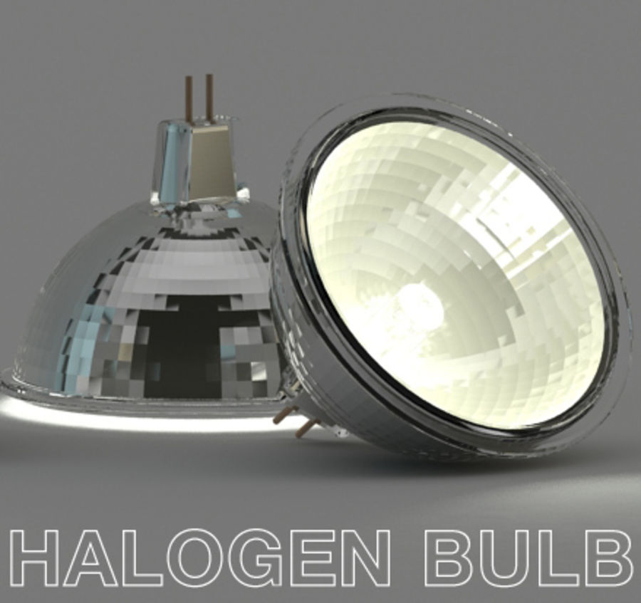 Halogen Bulb royalty-free 3d model - Preview no. 1