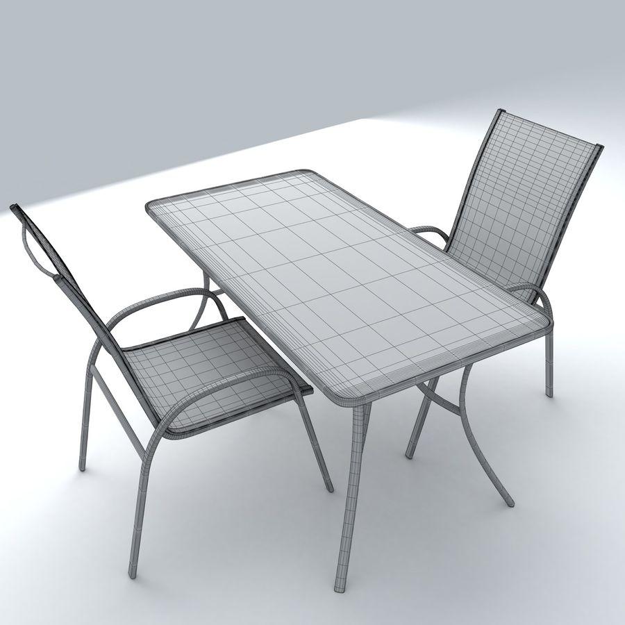 Trädgårdsmöbler 5 royalty-free 3d model - Preview no. 4
