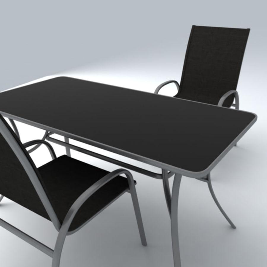 Trädgårdsmöbler 5 royalty-free 3d model - Preview no. 2