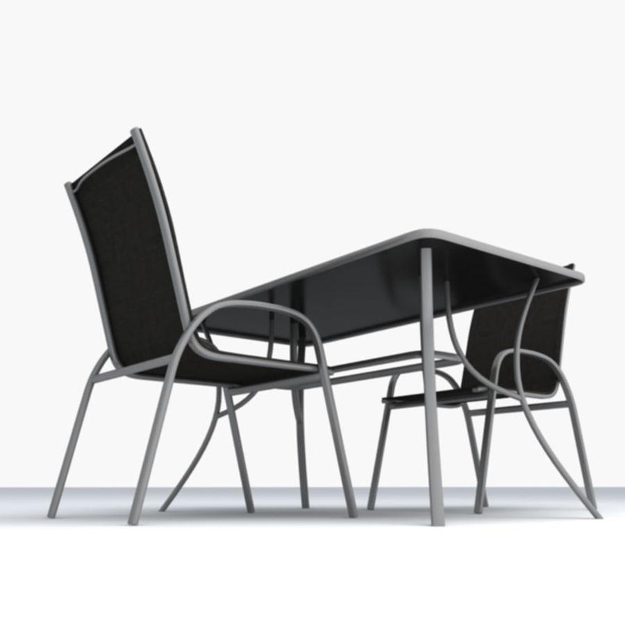 Trädgårdsmöbler 5 royalty-free 3d model - Preview no. 3
