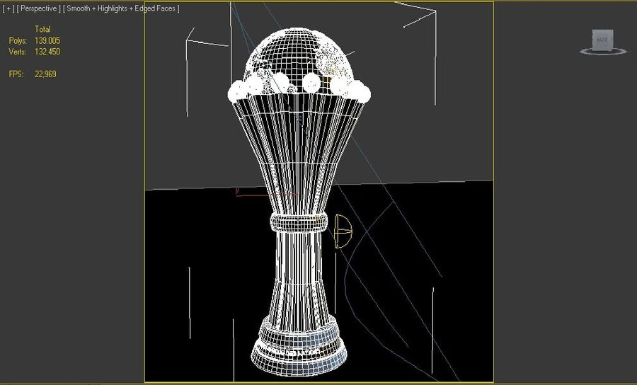 African Cup of Nations royalty-free 3d model - Preview no. 5