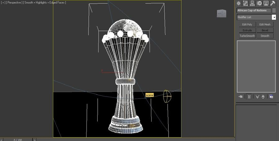 African Cup of Nations royalty-free 3d model - Preview no. 4