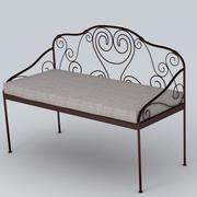 Garden Bench 02 3d model