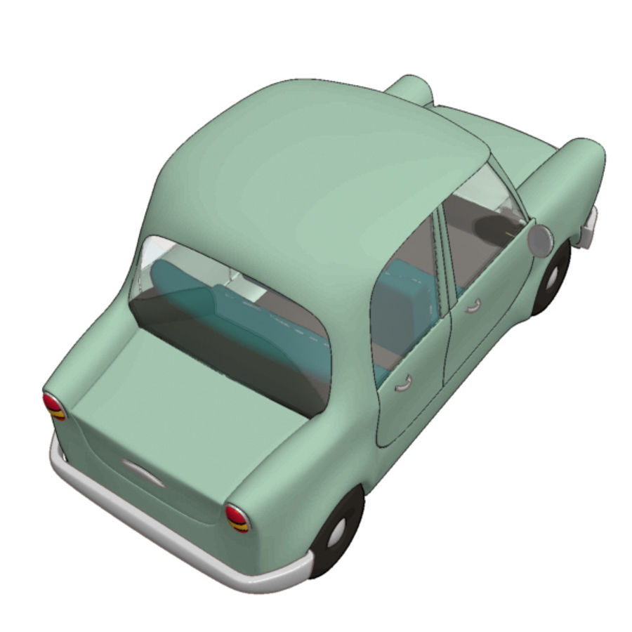 卡通车 royalty-free 3d model - Preview no. 3