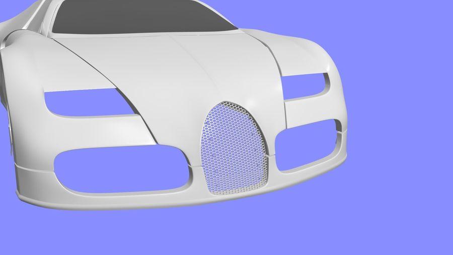 Bugatti veyron(1) royalty-free 3d model - Preview no. 8