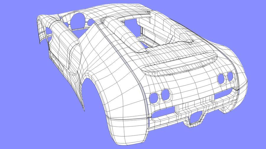 Bugatti veyron(1) royalty-free 3d model - Preview no. 12