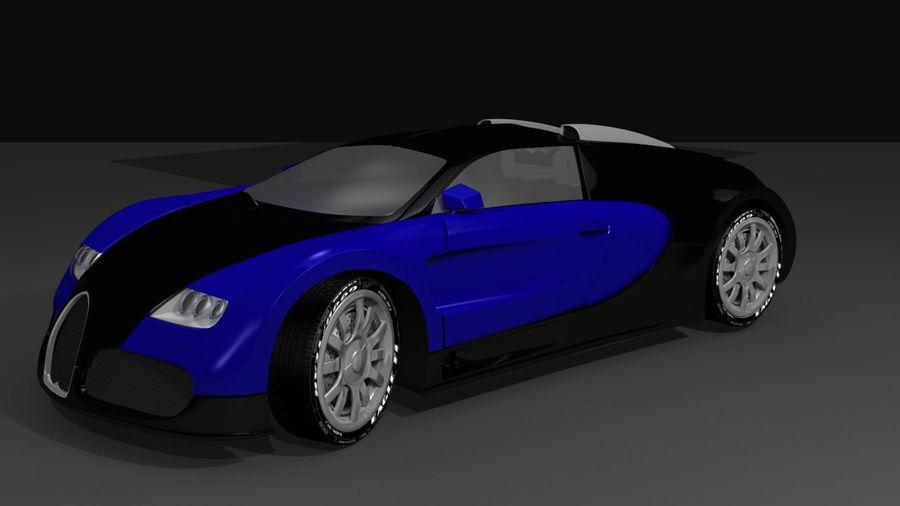 Bugatti veyron(1) royalty-free 3d model - Preview no. 3