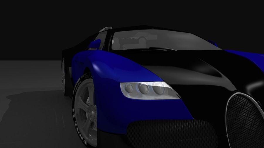 Bugatti veyron(1) royalty-free 3d model - Preview no. 1