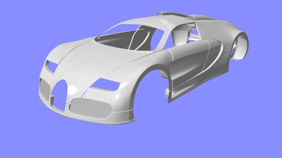 Bugatti veyron(1) royalty-free 3d model - Preview no. 6