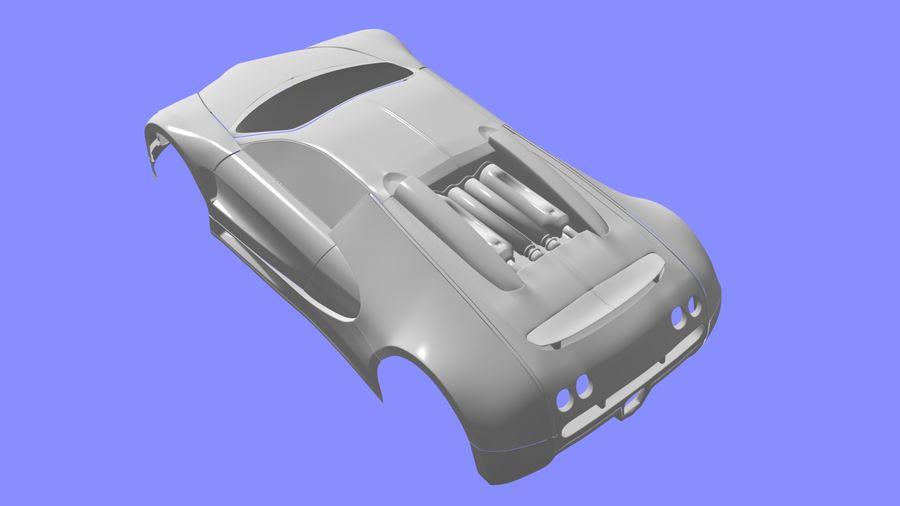Bugatti veyron(1) royalty-free 3d model - Preview no. 7