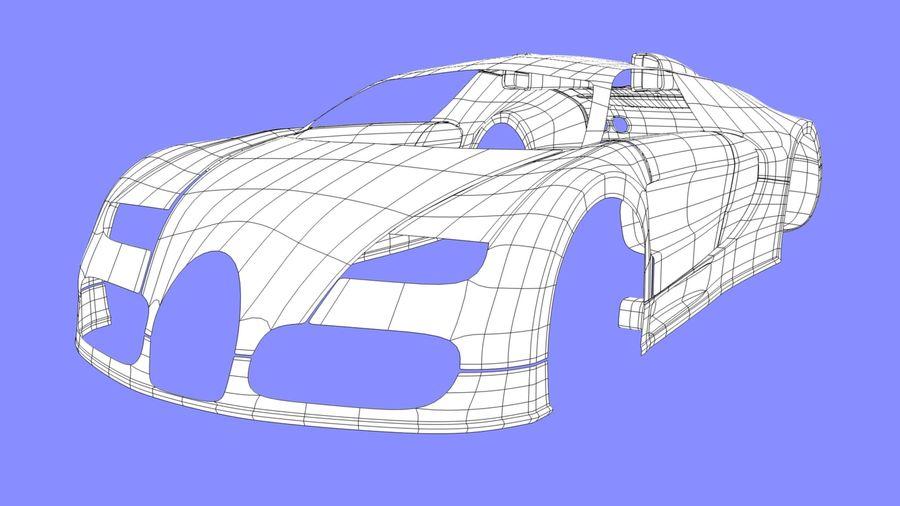 Bugatti veyron(1) royalty-free 3d model - Preview no. 9