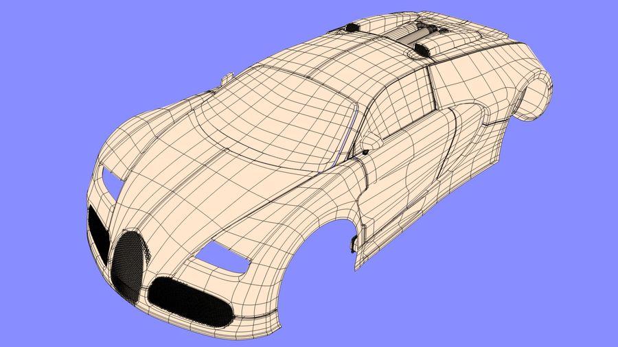 Bugatti veyron(1) royalty-free 3d model - Preview no. 11