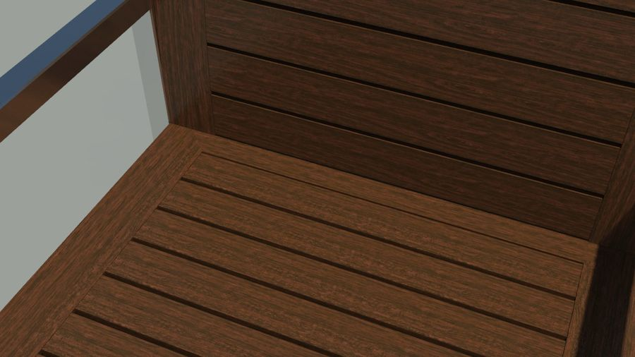 Garden furniture royalty-free 3d model - Preview no. 6