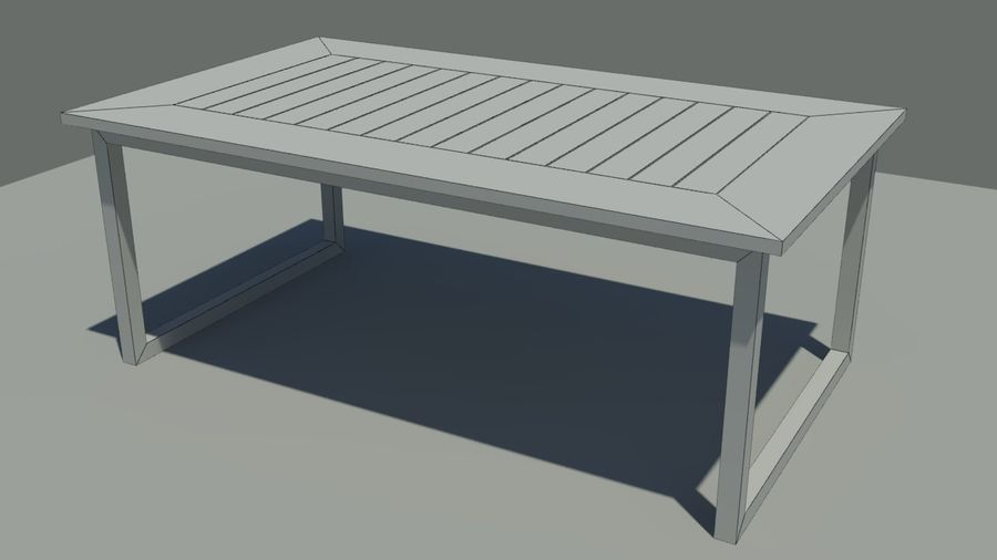 Garden furniture royalty-free 3d model - Preview no. 7