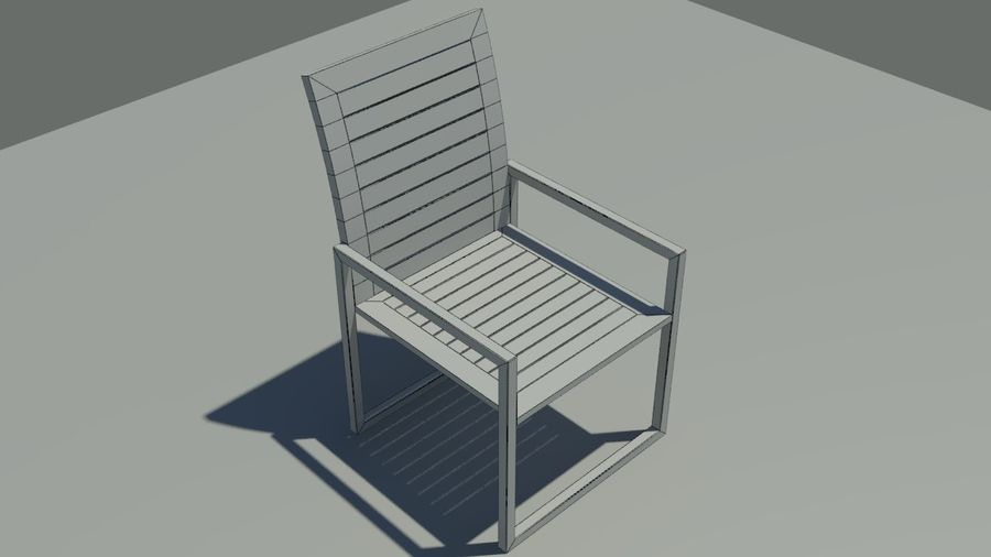 Garden furniture royalty-free 3d model - Preview no. 8