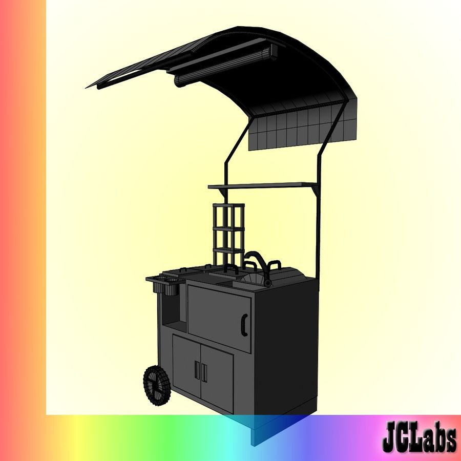 Food Cart royalty-free 3d model - Preview no. 6