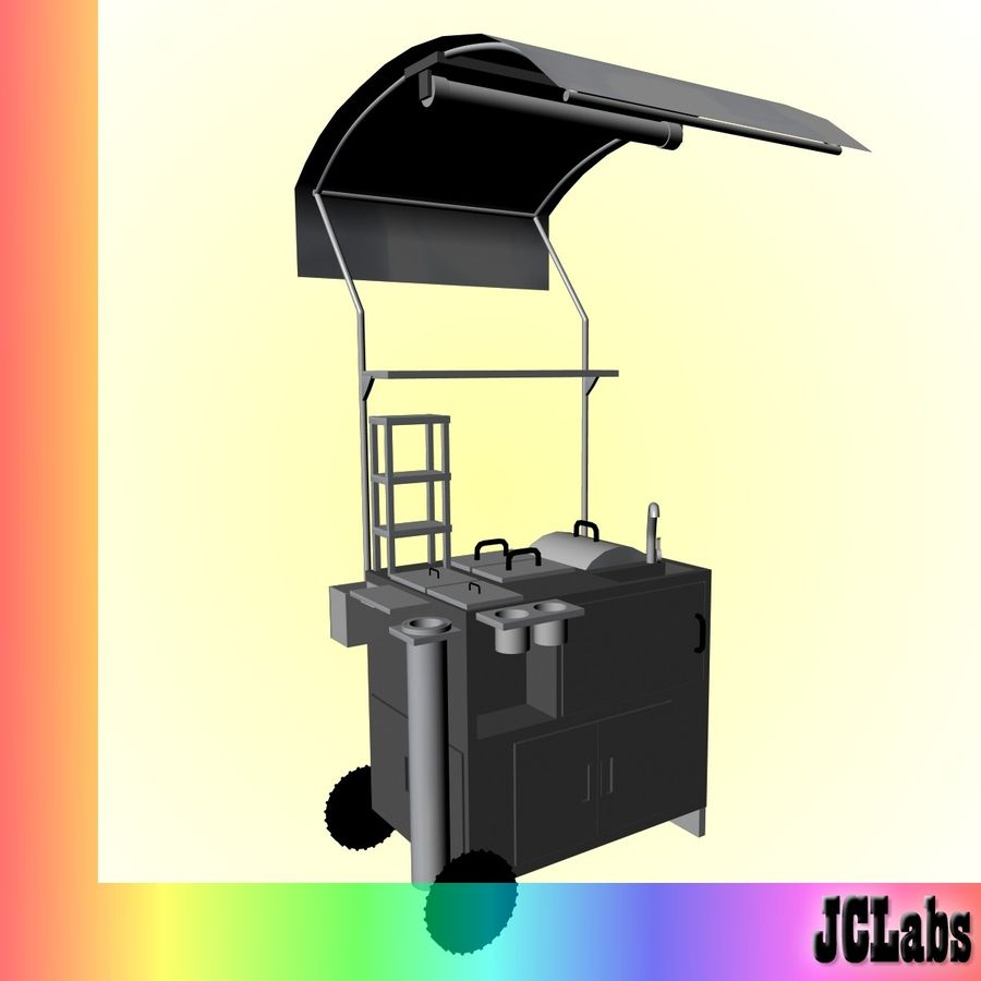 Food Cart royalty-free 3d model - Preview no. 1