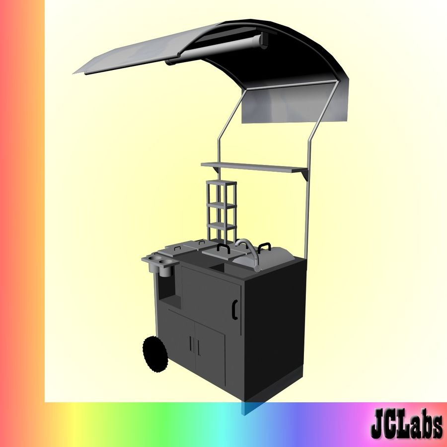Food Cart royalty-free 3d model - Preview no. 3