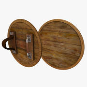 Round Wooden Shield 3d model