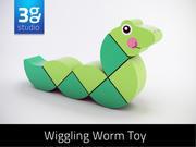 木制摇摆蠕虫玩具 3d model