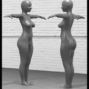 3D kvinna modell 3d model