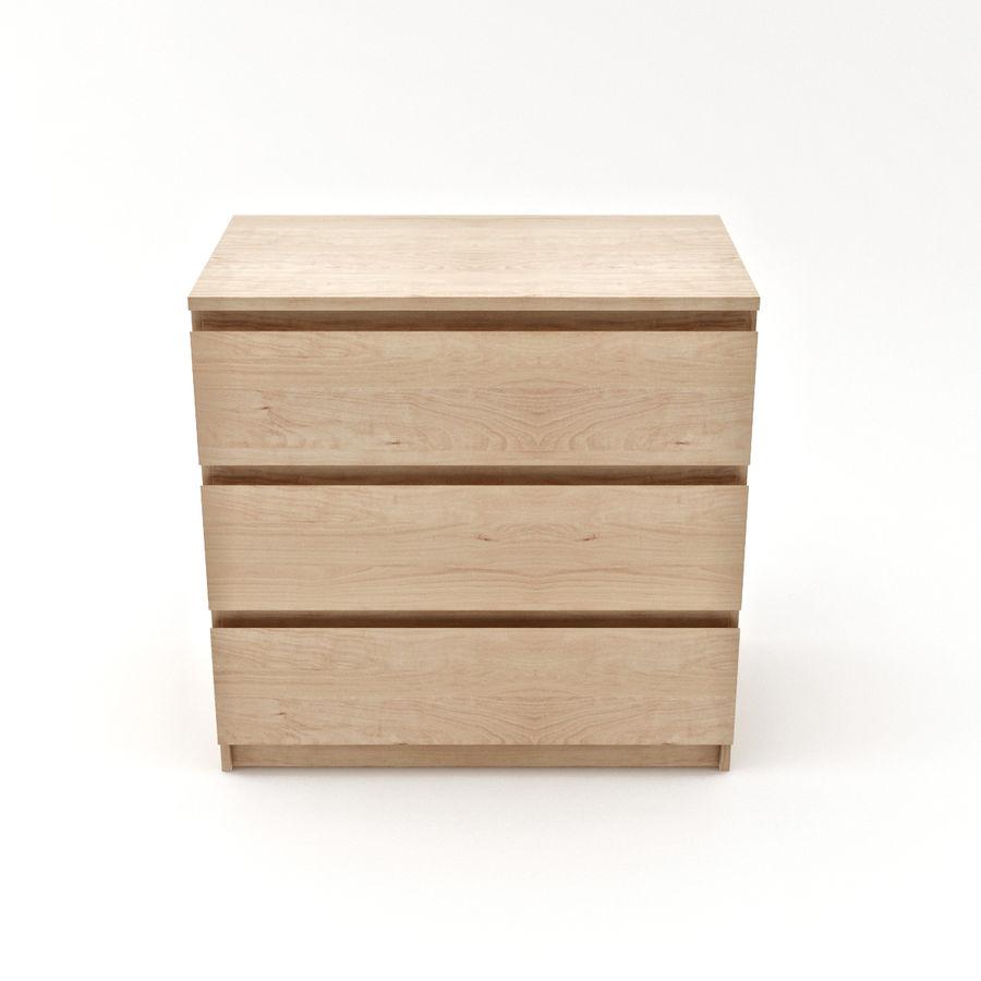 Ikea Malm Kommode Mit 3 Schubladen 3d Modell 19 Max Free3d