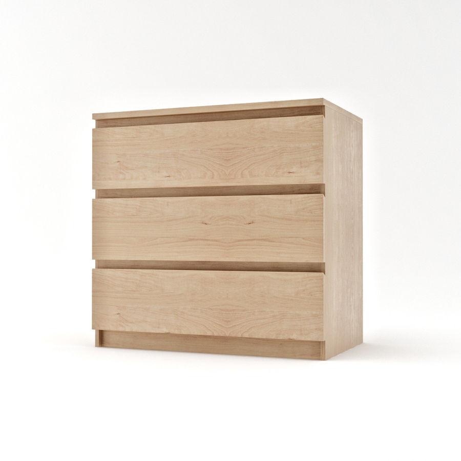 IKEA MALM Kommode mit 3 Schubladen 3D-Modell $19 - .max - Free3D