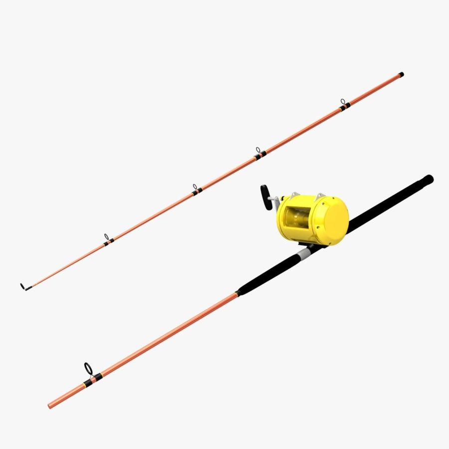 Big game fishing rod reel 3d model 25 ma obj free3d for Fishing rod game