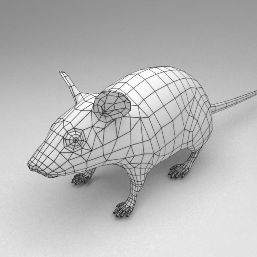 Mouse rigged royalty-free 3d model - Preview no. 10