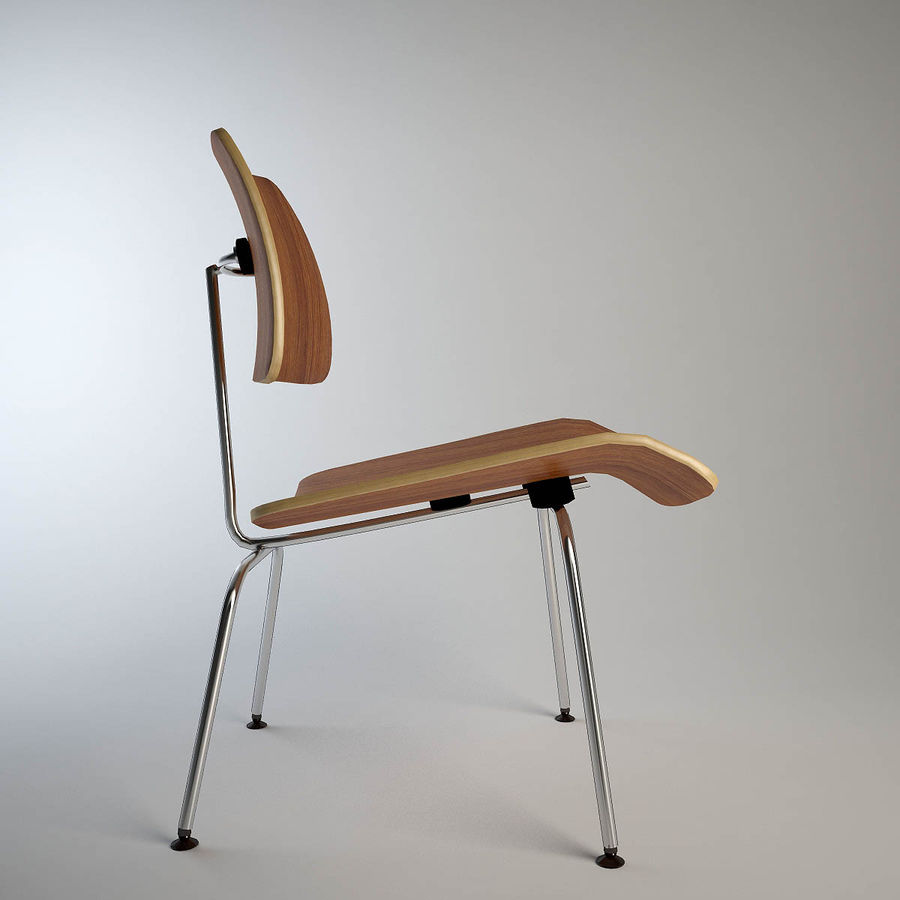 Eames Plywood chair royalty-free 3d model - Preview no. 4