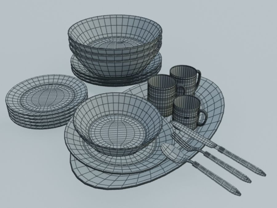 Tableware royalty-free 3d model - Preview no. 5