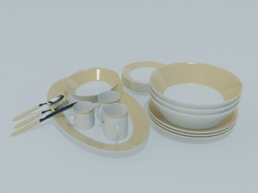 Tableware royalty-free 3d model - Preview no. 9