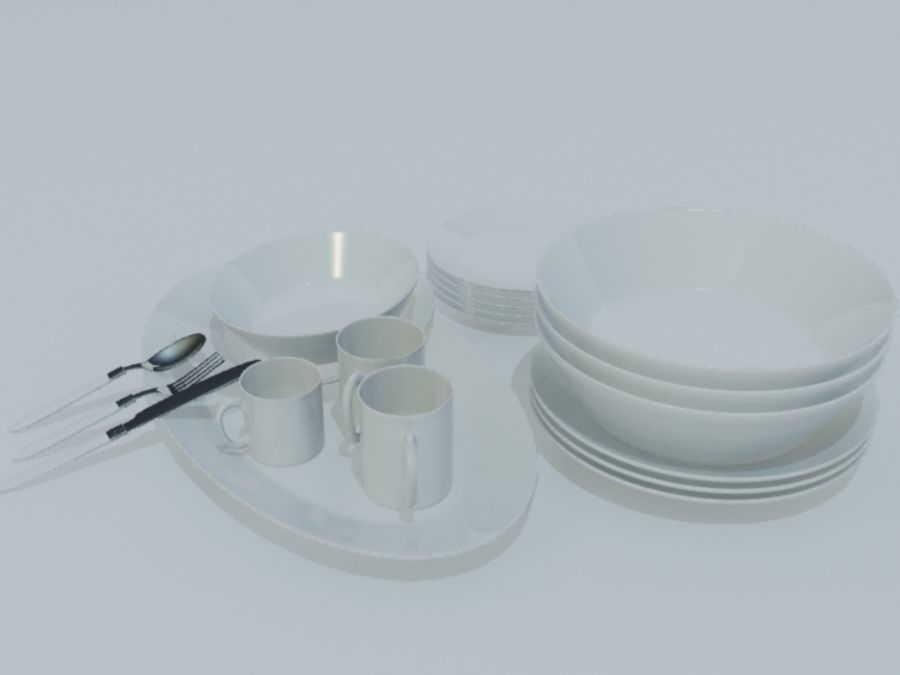 Tableware royalty-free 3d model - Preview no. 12