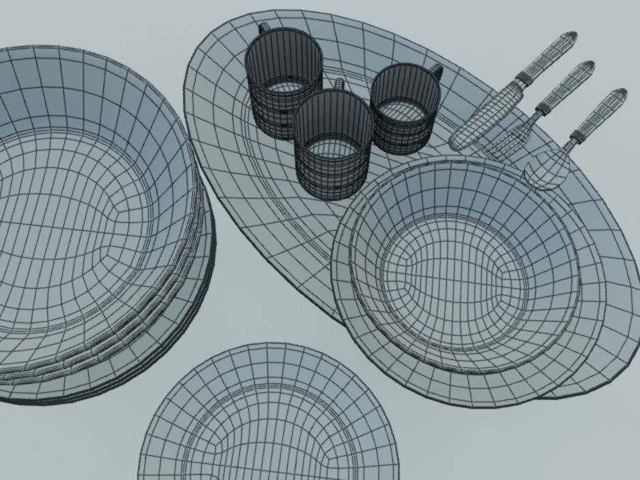 Tableware royalty-free 3d model - Preview no. 7