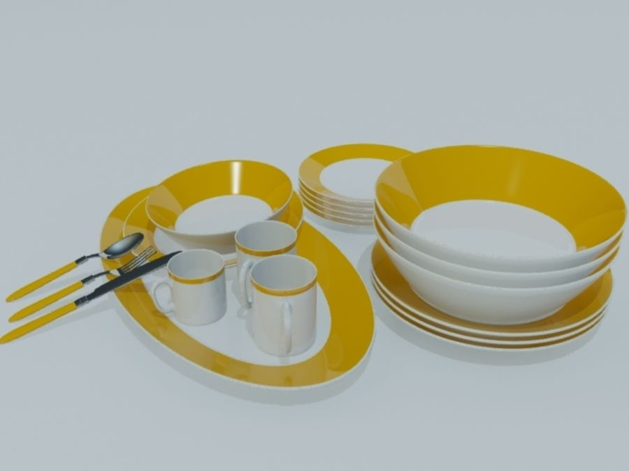 Tableware royalty-free 3d model - Preview no. 11