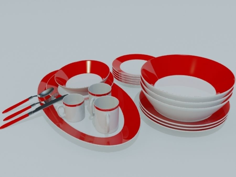 Tableware royalty-free 3d model - Preview no. 10