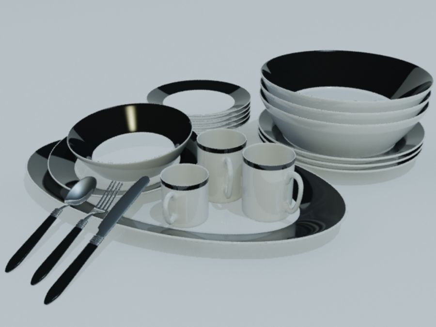 Tableware royalty-free 3d model - Preview no. 1