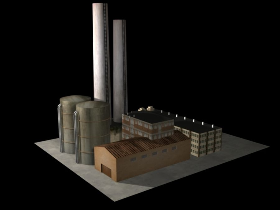 Easy Factory royalty-free 3d model - Preview no. 3