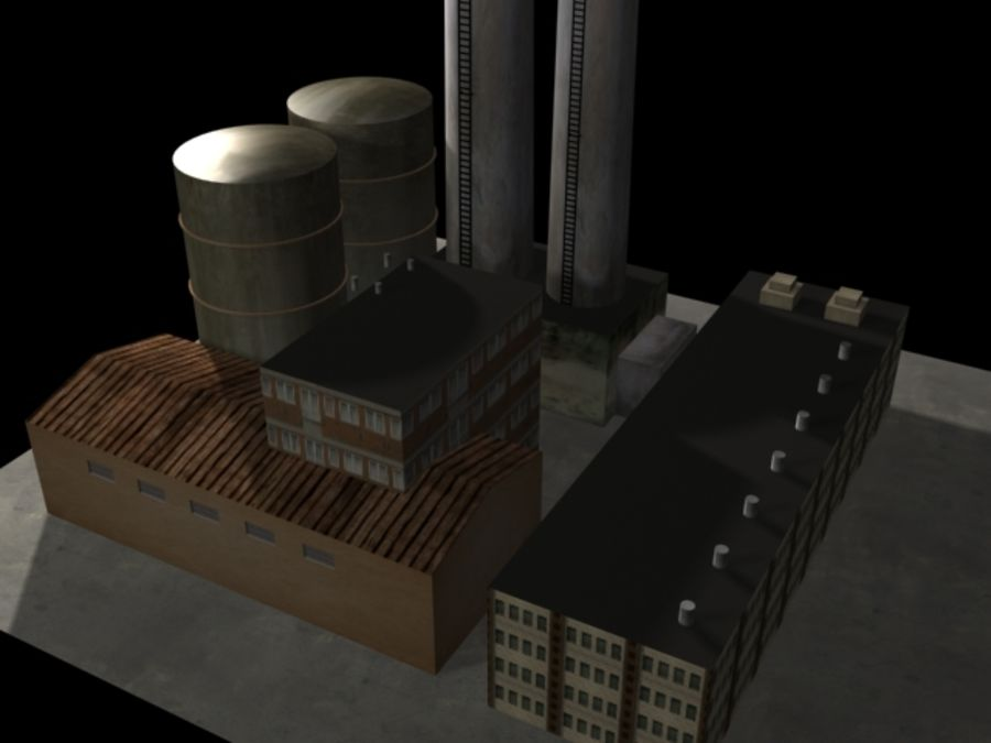Easy Factory royalty-free 3d model - Preview no. 2
