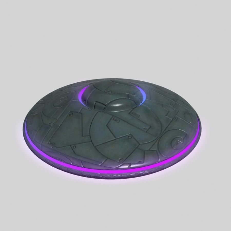 UFO alien spaceship royalty-free 3d model - Preview no. 5