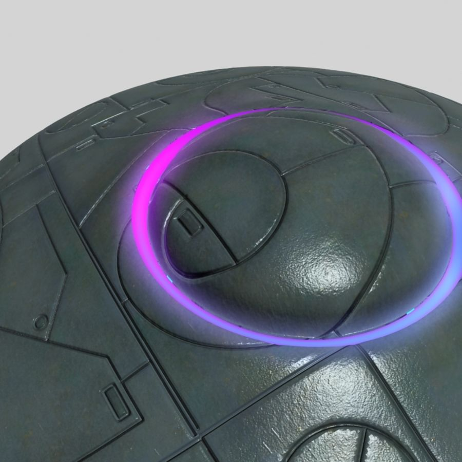 UFO alien spaceship royalty-free 3d model - Preview no. 10
