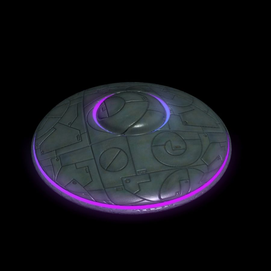 UFO alien spaceship royalty-free 3d model - Preview no. 13