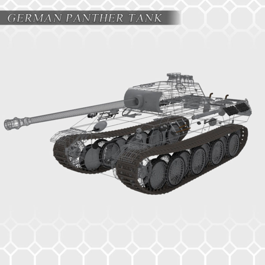 Panther Tank - Panzer V royalty-free 3d model - Preview no. 5