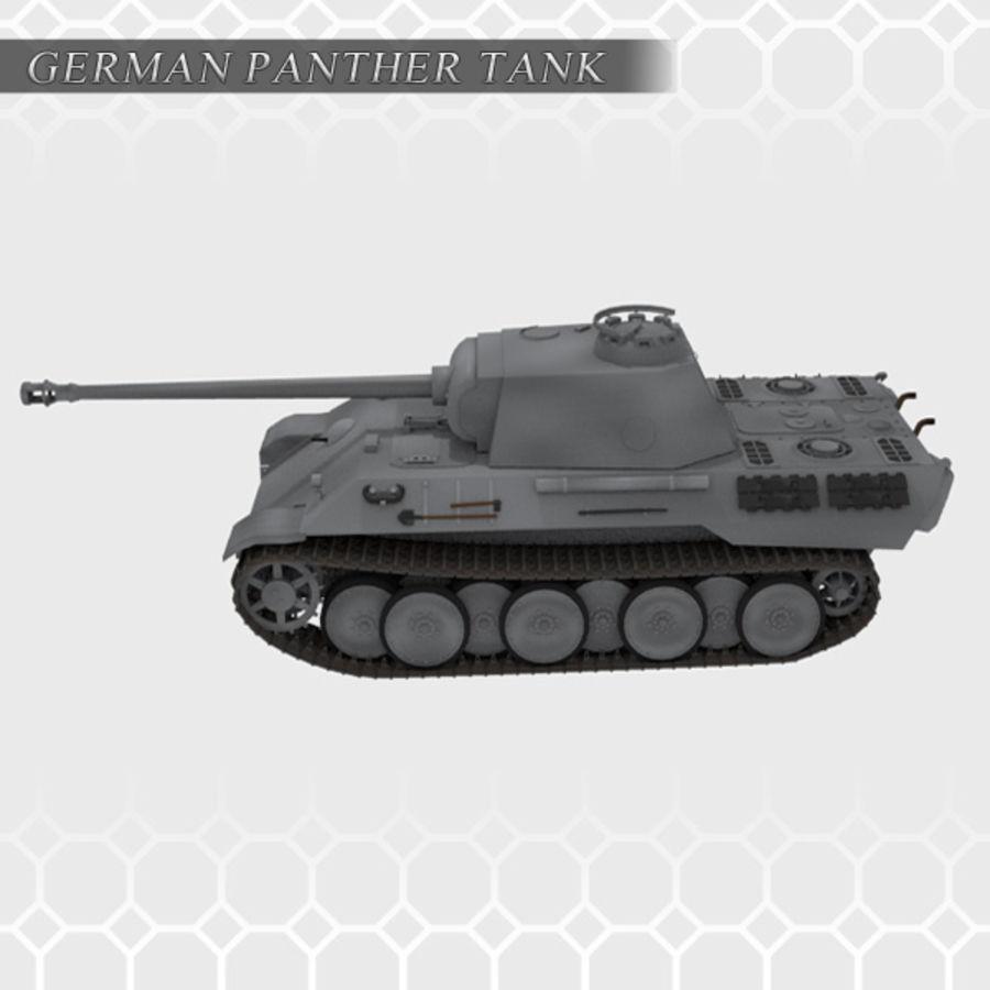 Panther Tank - Panzer V royalty-free 3d model - Preview no. 4