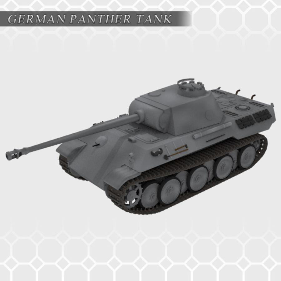 Panther Tank - Panzer V royalty-free 3d model - Preview no. 1