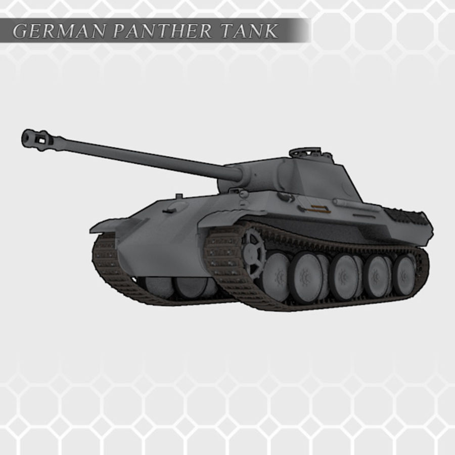 Panther Tank - Panzer V royalty-free 3d model - Preview no. 2