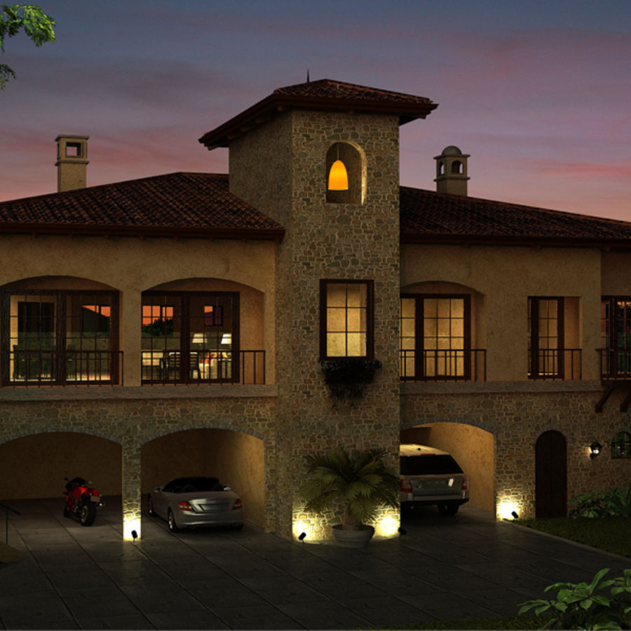 Latina moderna Toscana Hacienda royalty-free 3d model - Preview no. 2
