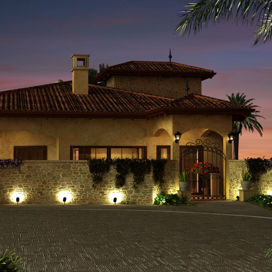 Latina moderna Toscana Hacienda royalty-free 3d model - Preview no. 3