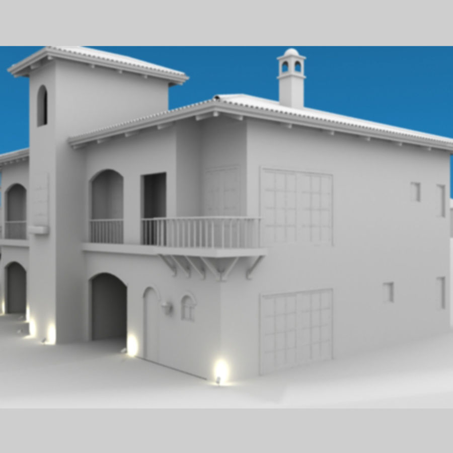 Latina moderna Toscana Hacienda royalty-free 3d model - Preview no. 7