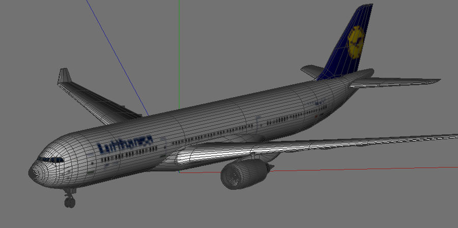 Airbus A330 Lufthansa royalty-free 3d model - Preview no. 5